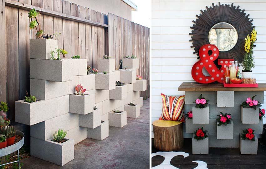 Da blocco di cemento ad arredamento for Semplici piani di casa in blocchi di cemento