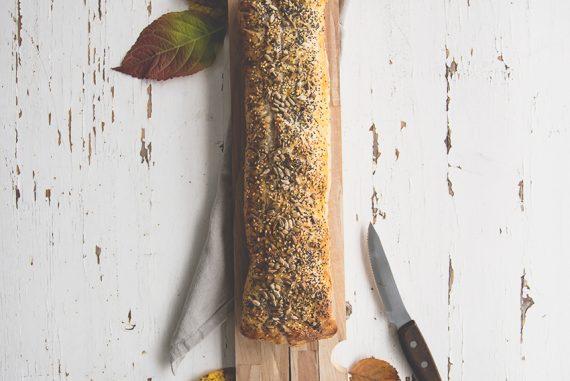 Strudel salato con spek, zucca e scamorza - la ricetta