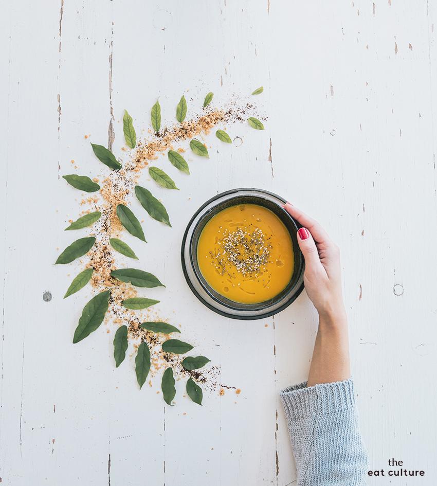 Ciao autunno con una crema di zucca, sedano e ceci