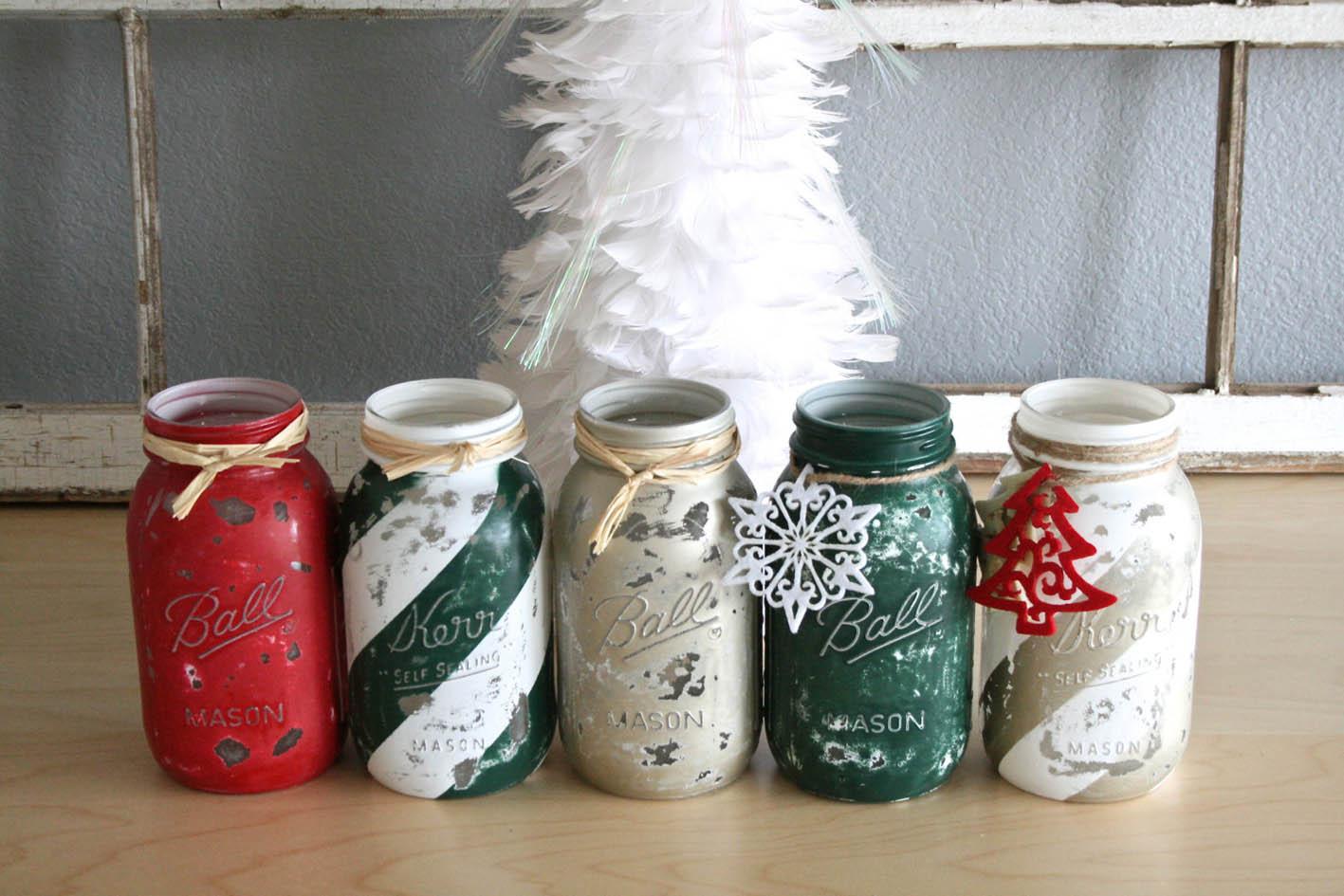 Idee Creative Per Natale trasformare i barattoli in decorazioni natalizie