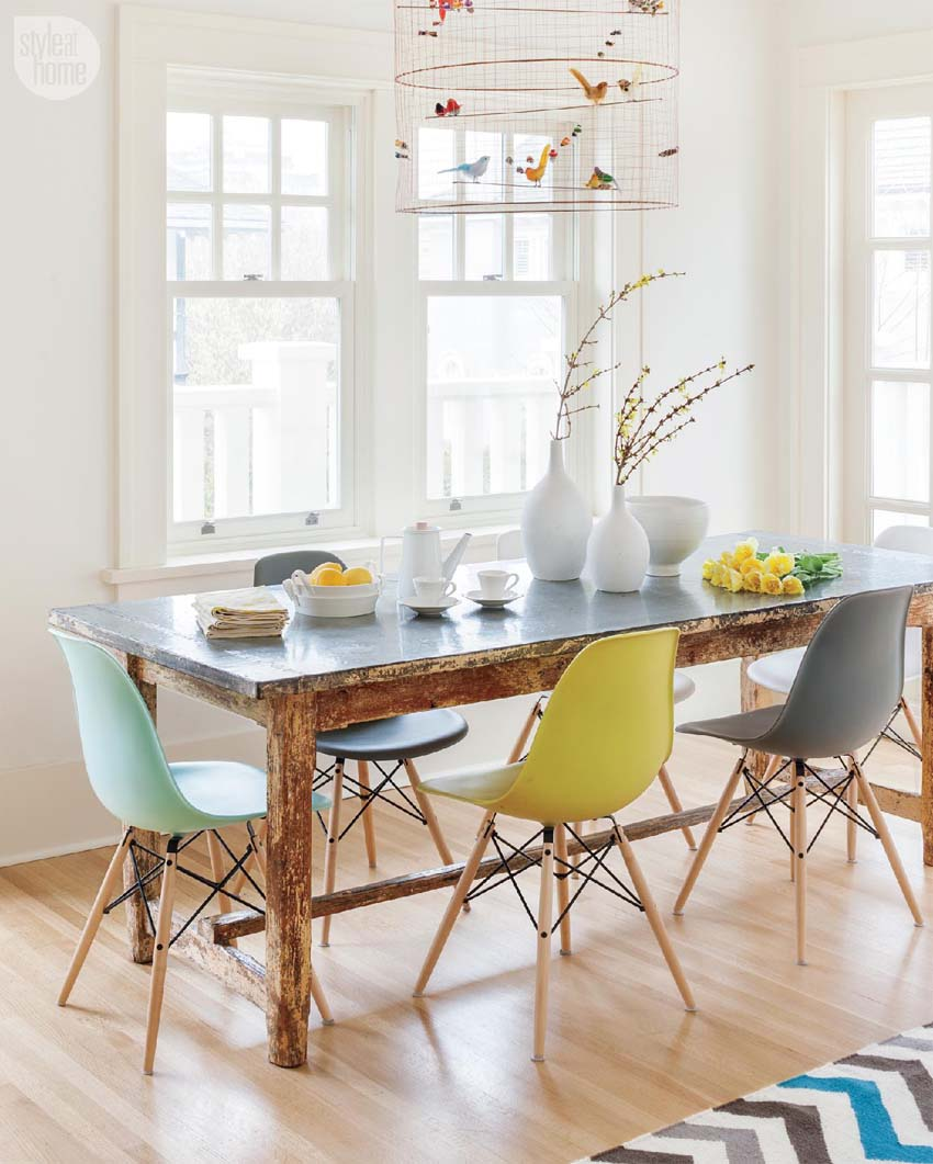 Sala da pranzo con panca: dining room bench with back. idee per ...