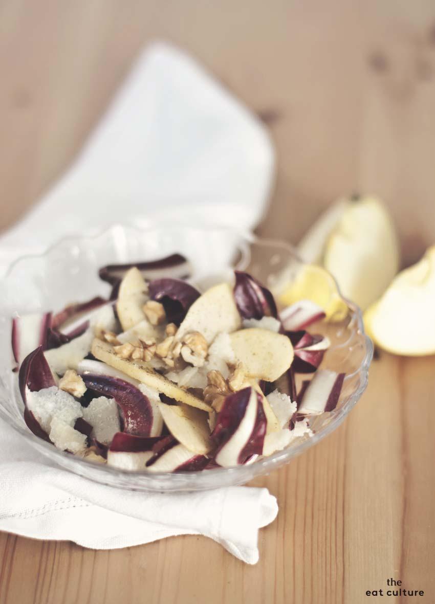 insalata detossinanate al radicchio di Treviso e mela