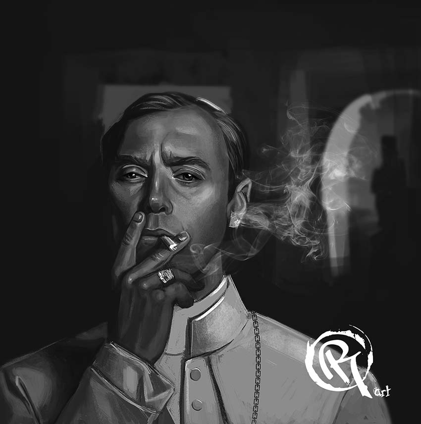 The Young Pope illustrazione di Olga Rigkova