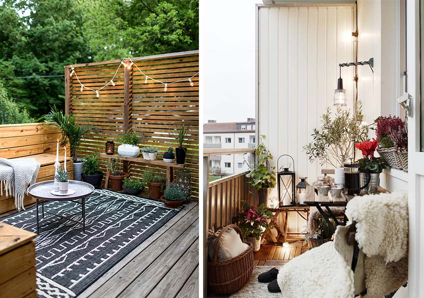 Come arredare il proprio terrazzo balcone o portico the for Tende idee arredo