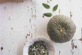 Tortelli di zucca, mortadella e ricotta in verde