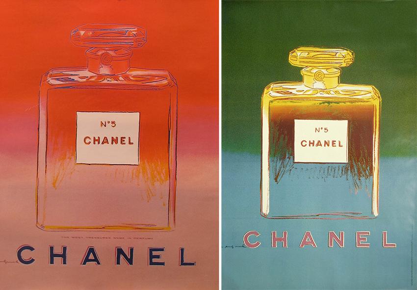 Chanel n°5 Andy Warhol art