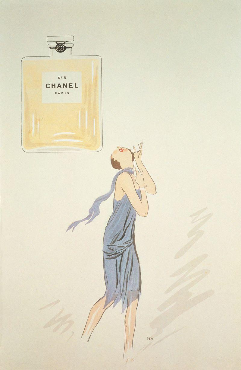 1921, prima pubblicità Chanel n°5