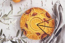 Torta rovesciata alle arance caramellate con ricotta, morbidissima e profumata!