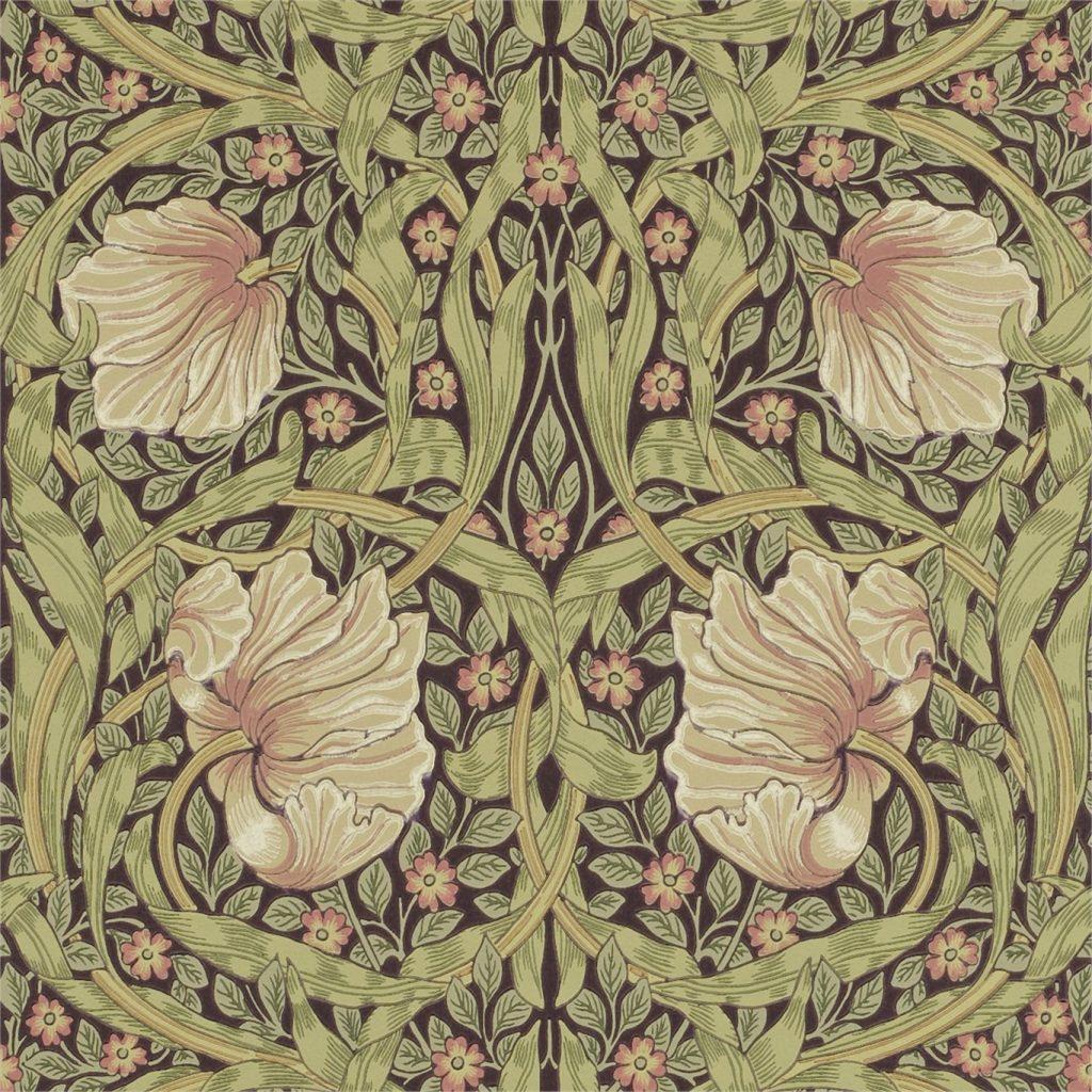 Carta da parati a fiori William Morris