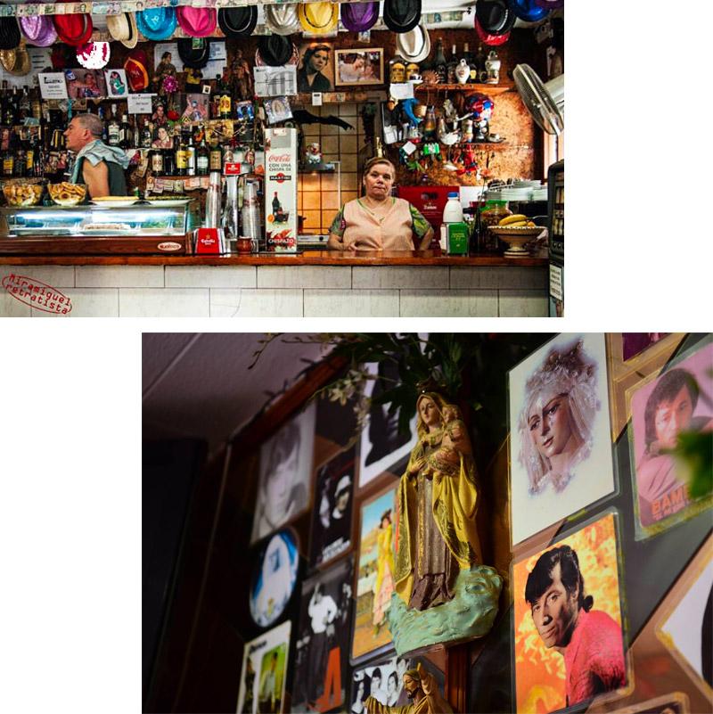 Gli interni del Bar Leo nella Barceloneta