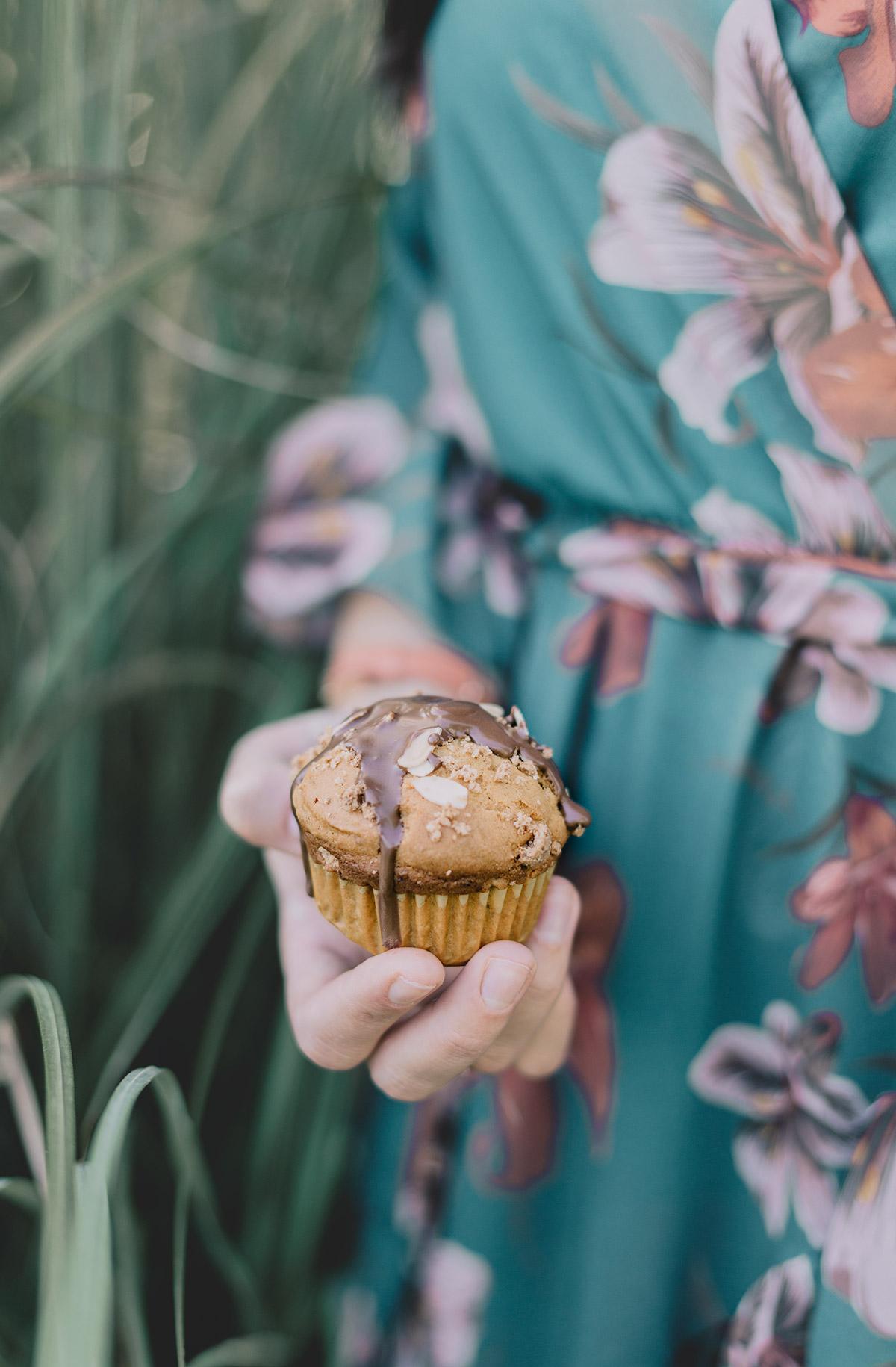 muffin alla zucca con amaretti e cioccolato fondente