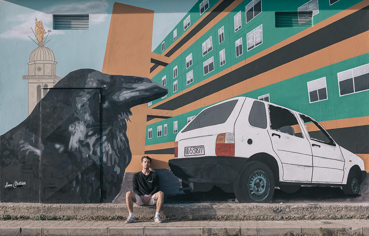 Simone Mestroni Udine murales quartiere Di Giusto