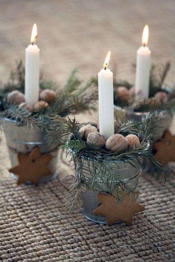 centrotavola di natale diy idea decor candele