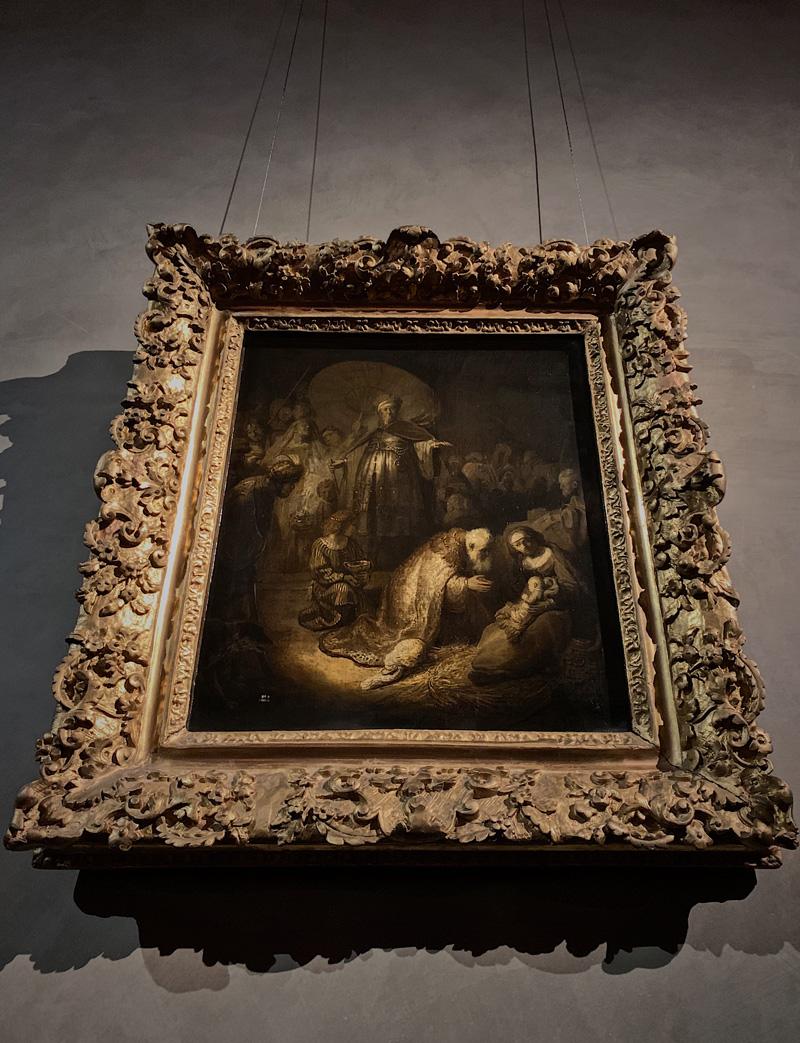 L'adorazione dei magi Rembrandt a Parma