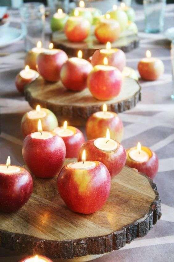 centrotavola natale con le mele