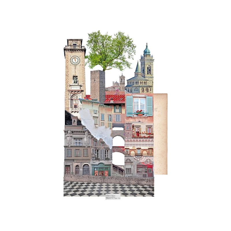 Francesca Sacco collage Bergamo