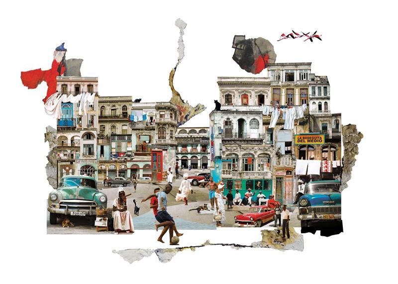 Francesca Sacco collage Cuba
