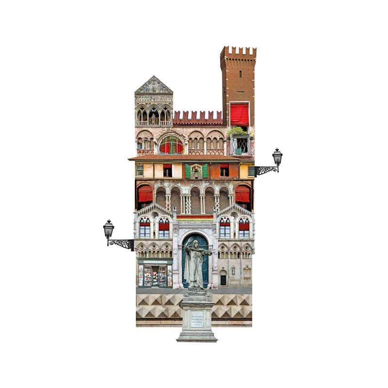 Francesca Sacco collage Ferrara
