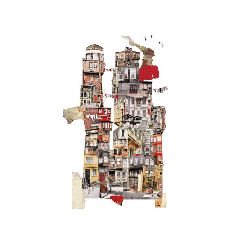 Francesca Sacco collage Istanbul