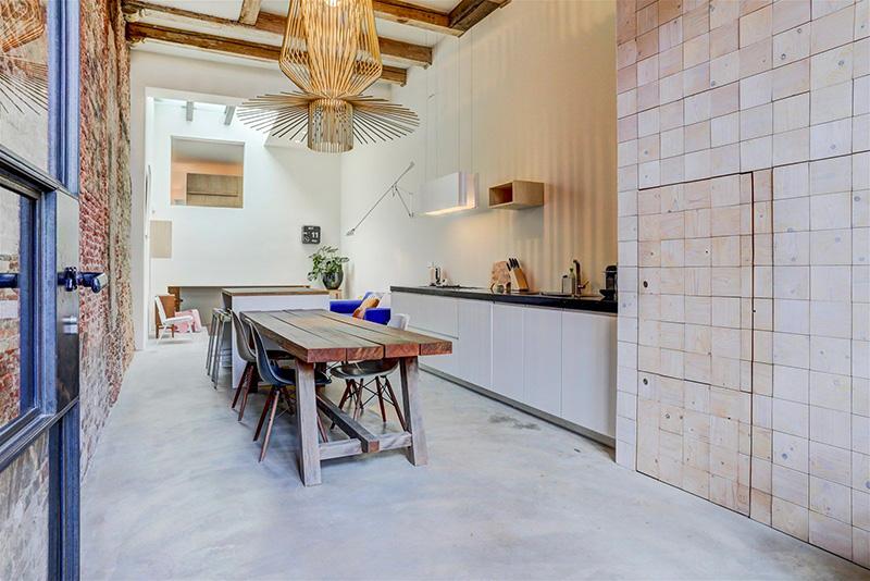 loft amsterdam cucina minimale