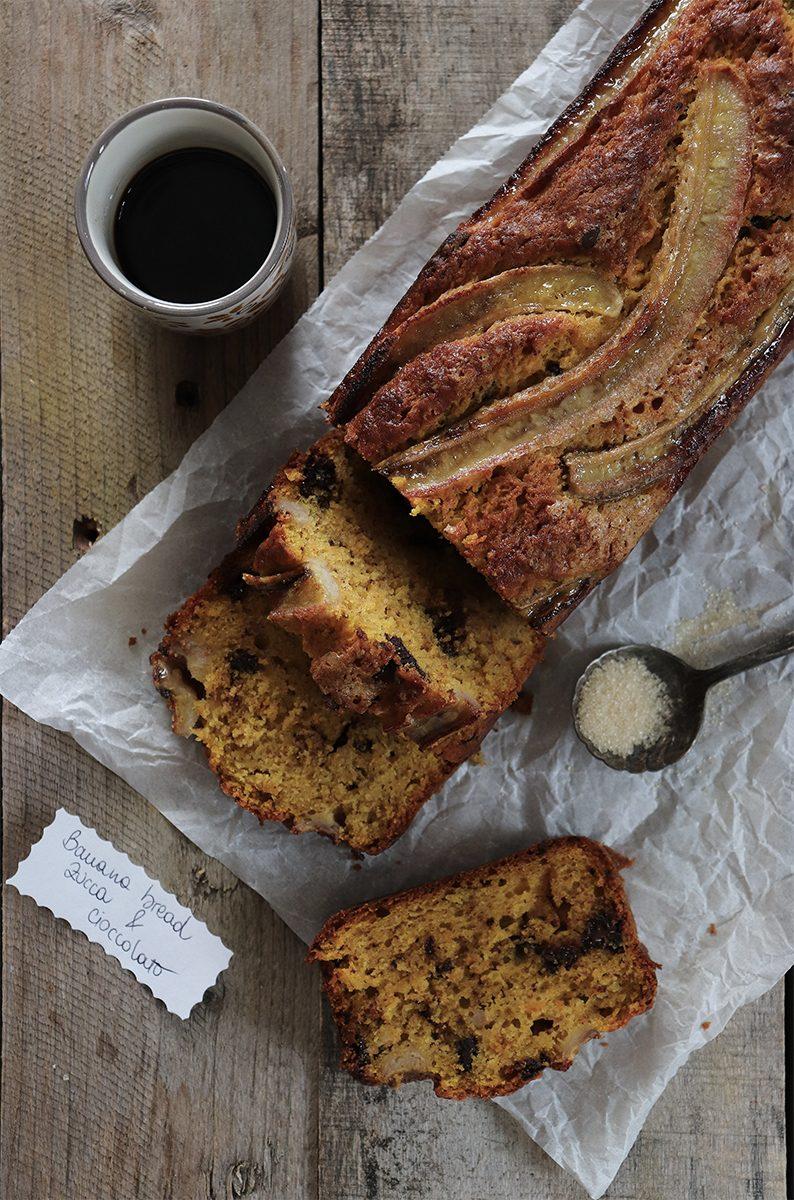 Ricetta banana bread alla zucca e cioccolato